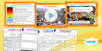 Geography: Extreme Earth: Earthquakes Year 3 Lesson Pack 4