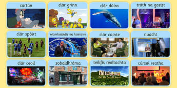 Television Programme Matching Card Game Gaeilge - Gaeilge, Irish, television, T.V., programmes, card, game, snap, go fish, matching