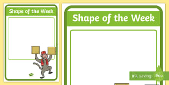Shape of the Week Display Poster - Shape of the Week Display Poster - shapes, maths, numeracy, pf the week, shapes of the week, poster,