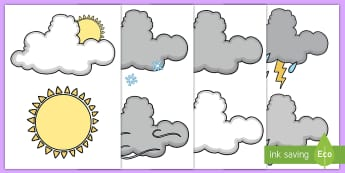 Weather Symbol Cut-Outs - Weather Symbols Printable - Weather, Cut Outs, Weather Symbols, Weather Symbol Cut Outs , Weather Cu