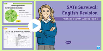 SATs Survival: Year 6 English Revision Morning Starter Weekly PowerPoint Pack 6 - SATs Survival Materials Year 6, SATs, assessment, 2017, English, SPaG, GPS, grammar, punctuation, sp