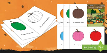 Pumpkin Color Words Emergent Reader - ELA, Guided Readers, Small Group Readers, Halloween, Fall, Autumn