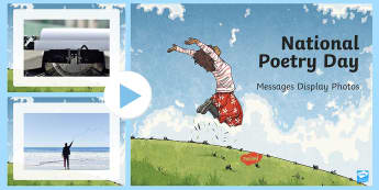 National Poetry Day Messages Display Photos  PowerPoint - National Poetry Day,National Poetry Day 2016, poetry, poetry photos, messages, letters, emails, edit