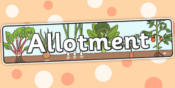 Allotment Themed Banner - topic, banner