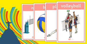 The Olympics Volleyball Display Posters - Volleyball, Olympics, Olympic Games, sports, Olympic, London, 2012, display, banner, poster, sign, activity, Olympic torch, events, flag, countries, medal, Olympic Rings, mascots, flame, compete