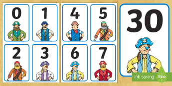 Pirate-Themed Number Cards -  Primary Resources, pirate, fun, numbers, Early Years (EYFS), KS1 & KS2 Primary Teaching Resources
