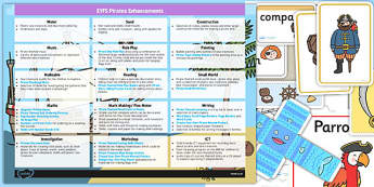 EYFS Pirate Themed Enhancement Ideas and Resources Pack - planning, pack