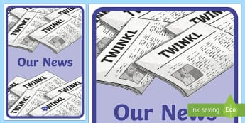 Our News A4 Display Poster - Our News Display Banner - our news display banner, our news, display, banner, poster, sign, news, re