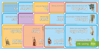 Greek Gods Table Signs -
