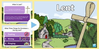 When Is Lent? PowerPoint - lent, easter, religion, christianity, christian festivals, fasting, meaning of lent, ash wednesday,