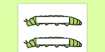 Caterpillar Shape Name Labels - caterpillar, shape, name, labels