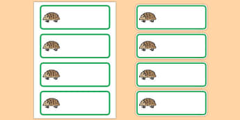 Editable Hedgehog Drawer Peg Name Labels - animals, signs, labels
