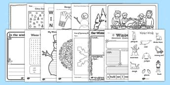 Winter Activity Photocopy Pack - winter, activity, photocopy, pack