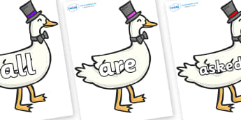 Tricky Words on Goose - Tricky words, DfES Letters and Sounds, Letters and sounds, display, words