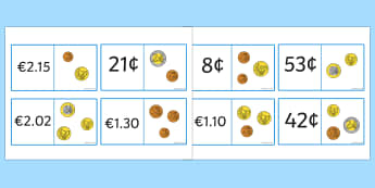 Euro Value Loopcards - euros, money, coins, currency, cards, game