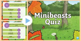 Minibeast Quiz PowerPoint  English/French - Minibeast Quiz Powerpoint - minibeasts, quiz, minibeast games, minbeasts, minibeatss, mini beatss, m