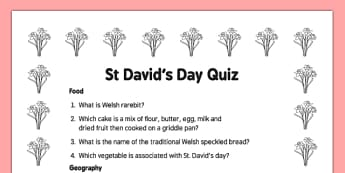 Elderly Care St David's Day Quiz - Elderly, Reminiscence, Care Homes, St. David's Day