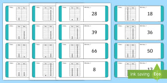 KS1 Place Value Peg Board Loop Cards - tens, ones, number, matching, game, 2 digit numbers