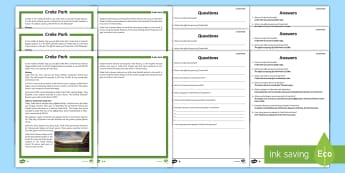 Croke Park Differentiated Reading Comprehension Activity - Croke Park, GAA, gaelic, hurling, hogan, stand, stadium, football, Dublin, All-Ireland, Sport