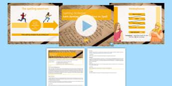 Spelling Strategies Lesson Pack  - spelling, misspell, phonetics, semiotics, homophones, english,