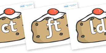 Final Letter Blends on Currant Buns - Final Letters, final letter, letter blend, letter blends, consonant, consonants, digraph, trigraph, literacy, alphabet, letters, foundation stage literacy