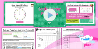 PlanIt Maths Y6 Ratio and Proportion Lesson Pack Scale Factor and Enlargement (3)
