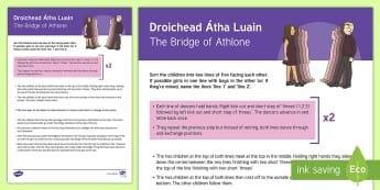 Droichead Átha Luain / The Bridge of Athlone Céilí Dance Step-by-Step Instructions - ROI - Irish Language Week Gaeilge Resources - 1st-17th March, Seachtain na Gaeilge, céilí dance, d