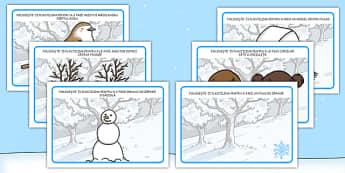 Iarna - Planșete pentru modelajul cu plastilină - iarna, planșete, modelaj, plastilină, manualitate, motricitate, materiale, materiale didactice, română, romana, material, material didactic