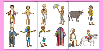 Joseph Story Cut Out - Joseph, coat, Jacob, bible story, bible, slave, brothers, cut outs, cutting, cut, cupbearer, pharao, prison, cows, corn, dreams, Palace, Egypt, fat, thin