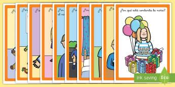 Tarjetas de preguntas: ¿Por qué? - Las emociones - tarjetas, preguntas, emociones, sentimientos, por qué, por que, porque, autoestima, auto estima, ,S