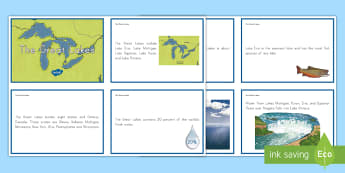 The Great Lakes Fact Cards - Great Lakes, regions, geography, lakes, bodies of water