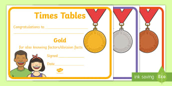 Times Table  Certificates -  - Times Tables certificates - times, tables, certificate, times table, times tables, maths, tmes table