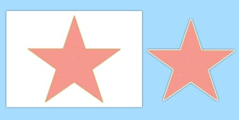 Hollywood Walk of Fame Editable Stars Cut-Outs - transition, end of year, photo booth, leavers, leaving,