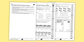 Year 2 Maths Assessment Number Multiplication and Division Term 3 - year 2, maths, assessment, number, multiplication, division, term 3
