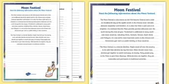 3-6 Moon Festival Handwriting Activity Sheets - Mid-Autumn Festival, Mooncakes, fluency, legible, legibility, Harvest,worksheets