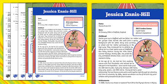Great British Olympians: Jessica Ennis-Hill Differentiated Reading Comprehension Activity