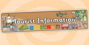 Tourist Information Role Play Display Banner - tourist information, tourist role play, role play, display banner, tourist banner, tourist header