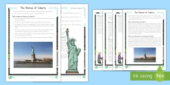 The Statue of Liberty Fact File - Statue of Liberty, American Symbols, US Symbols, Ellis Island, immigration, American Revolution