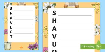 KS1 Shavuot Acrostic Poem - Acrostic Poetry, Acrostic Poem, Acrostic, Poetry, Jewish, Jew, Judaism, King David, Star of David, I