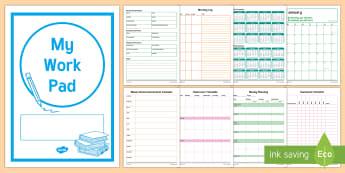 2017 Teacher Work Pad - teacher, daily, work pad, teaching, organisation, planning, Australia