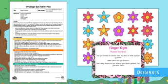 Flower Garland Finger Gym Plan and Resource Pack - treasures in the garden, Jake and Holly, twinkl fiction, twinkl stories, fairies, fairy, plants, flo