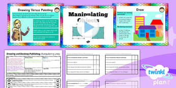 Computing:  Drawing and Desktop Publishing: Manipulating Objects Year 3 Lesson Pack 3