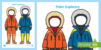 Polar Explorer Face Editable Cut-Outs - Polar Explorers - Arctic, winter, explorer, role play, pack, South Pole,  poster, activity, display,