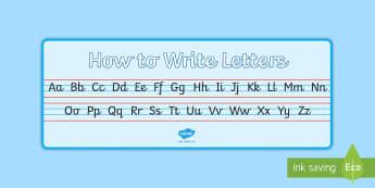 Cursive Alphabet A4 Display Banner - Cursive Alphabet A4 Display Banner - cursive, alphabet, strip, handwriting, writing area, eyfs, ks1,
