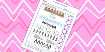 Polar Regions Counting Sheet - polar regions, counting, worksheet, counting sheet, themed counting sheet, themed worksheet, numbers, numeracy, 1:1 correspondance
