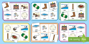 Phase 3 oo Sound Bingo - phonics, phoneme, game, phase 3, activity, worksheet, letters and sounds, qu