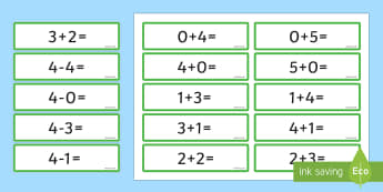 Number Bonds 4 and 5 Sentence Cards - number bonds, 4, 5, cards