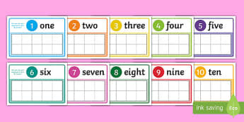 1 to 10 Number Frame Playdough Mat - 1 to 10, number, frame, playdough mat, playdough