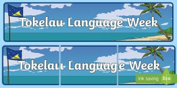 Tokelau Language Week Display Banner - tokelauan, tokelau pasifika, Atafu, Nukunonu, Fakaofo, coral reef