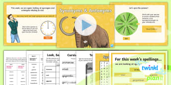 PlanIt Spelling Year 6 Term 3B W2: Size Synonyms and Antonyms Spelling Pack - planit, spelling, spell, word lists, words, spag, gps, synonyms, antonyms,